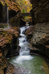 Rainbow Falls (Amar Raavi) Tags: rainbowfalls watkinsglen gorgetrail watkinsglenstatepark fingerlakes waterfalls longexposure water ny newyork nyfalls autumn pretty scenic iconic america unitedstates usa upstate fall glencreek rainbowbridge bridge schuyler outdoors