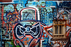 welcome to the rich bastards society (Ian Muttoo) Tags: dsc77351edit toronto ontario canada gimp ufraw 642kingstw graffiti welcometotherichbastardssociety