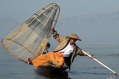 Fisherman Of Inle Lake (Alan1954) Tags: fisherman portrait myanmar burma holiday 2016 inlelake platinumpeaceaward platinumheartaward