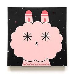 Wish Maker (Andrea Kang) Tags: instagram pink cute bunny rabbit wish wishes andreakang puff puffpuff piq illustration art kawaii cloud character characterdesign characterart