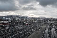 First snow down here (jaeschol) Tags: bahnhof eisenbahn europa hardbruecke herbst jahreszeit kantonzrich kontinent kreis5 schnee schweiz stadtzrich switzerland transport wetter zrichhardbrcke