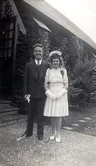 Wedding couple at 821 Ogilvy (SHPEHS) Tags: parkextension parkex bridgman 821ogilvy stcuthbertsanglicanchurch parcextension parcex wedding marriage