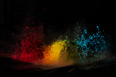 Rainbow (Geoff Blondahl) Tags: 500 colorexplosion colorpowder colorbomb highspeedphotography rainbow soundtrigger speaker triggertrap project365 nikon d810