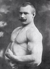 Strong man--1890's (kevin63) Tags: lightner photo man muscular old vintage mustache buzzcut strong free range 1890s 1900s