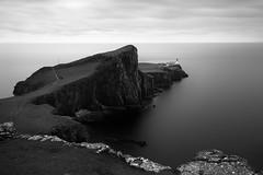 The viewpoint (George Pancescu) Tags: nikon d810 1635mm neistpoint isleofskye scotland europe cliffs rocks sea water sky monochrome blackandwhite landscape shore longexposure lighthouse