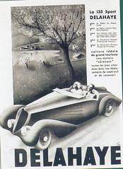 Delahaye 135 Sport (1937) (andreboeni) Tags: classic car automobile cars automobiles voitures autos automobili classique voiture retro auto oldtimer klassik classico classica publicity advert advertissement delahaye 135 sport sports roadster