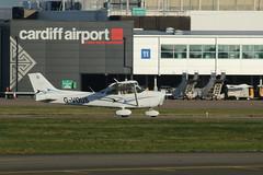G-VOUS. (aitch tee) Tags: cardiffairport aircraft generalaviation cessna gvous cwlegff maesawyrcaerdydd walesuk cessna172skyhawk