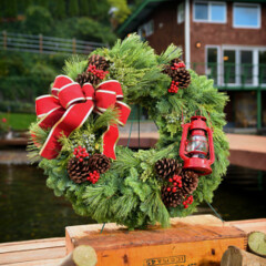 Christmas Wreaths for a Cause and a Wreath Giveaway (drucillamalbrough) Tags: kelly elko christmas wreaths for cause wreath giveaway