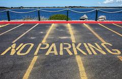 No Parking, a composition (klauslang99) Tags: streetphotography klauslang no parking composition bandon oregon stripes lines