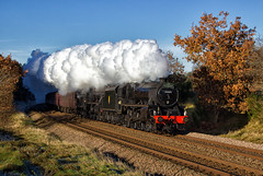 THE Black Fives (Wheelnrail) Tags: british rail br railways black 5 460 steam locomotive road railroad uk united kingdom train trains plumb thetford forest cathedrals express