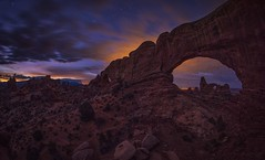 The North Window And The Eastern Glow (WJMcIntosh) Tags: northwindow archesnationalpark turretarch bluehour twilight dawn sunrise arch rokinon12mm