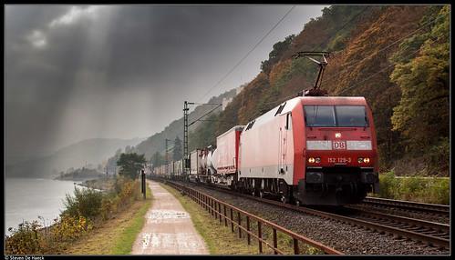 DB 152 129-3 @ Koblenz-Stolzenfels