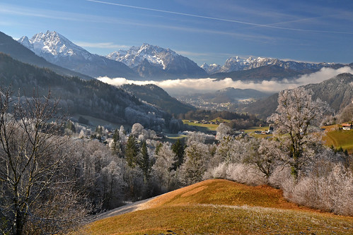 Frosty morning in the Berchtesgaden area