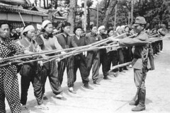 #Japanese soldier training women to defend the homeland with bamboo spears. 1945 [500  333] #history #retro #vintage #dh #HistoryPorn http://ift.tt/2gJtzG7 (Histolines) Tags: histolines history timeline retro vinatage japanese soldier training women defend homeland with bamboo spears 1945 500  333 vintage dh historyporn httpifttt2gjtzg7