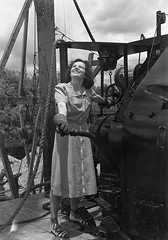 Jean B. Richie at Mission job (SMU Central University Libraries) Tags: workers women parts cement equipment machinery oil employees petroleum missionmanufacturingcompany