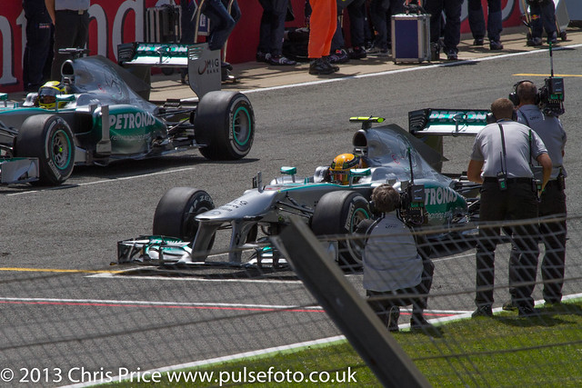 F1 Grid - Mercedes Lock Out