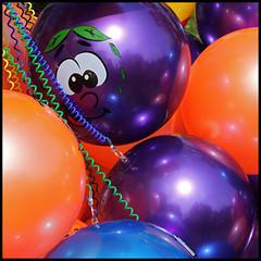 summer sun (foto.phrend) Tags: summer orange smile festival balloons square purple leeds wires round spheres 500d kirkstallfestival