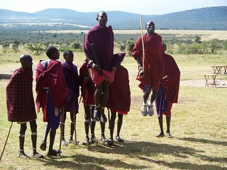 Traditional Maasai jumping
