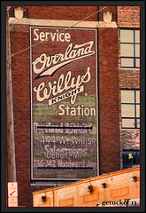 Overland Willy's (the Gallopping Geezer 3.8 million + views....) Tags: sign wall canon advertising d michigan ghost ad detroit advertisement signage hanging service product geezer ghostsign advertise thed 2013 tonemap