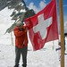 DSCN1712 (2006 July) atop the Aletsch Glacier in front of Jungfrau Mountain