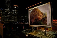 """Modified Photo:  """"Mother and son on billboard"""""""