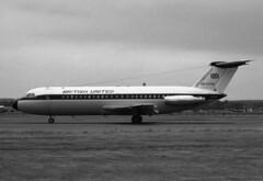 BAC One-Eleven srs 201 G-ASJE, British United, Farnborough, UK, 07 Sep 1964 (goring1941) Tags: airplane aircraft farnborough airliner bua bac jetliner eglf british united gasje oneeleven