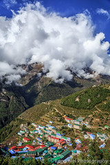 Namche Bazaar, Khumbu, Nepal (Feng Wei Photography) Tags: travel nepal cloud mountain color tourism expedition beautiful beauty vertical rural forest trekking trek relax landscape scenery colorful asia tour view outdoor relaxing scenic peaceful unesco journey vista remote lush himalaya khumbu everest himalayas guesthouse ebc namchebazar namche sagarmatha namchebazaar solukhumbu