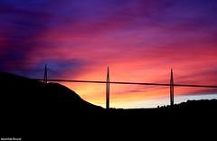 (mathiilde.b) Tags: bridge sunset sky cloud sun france color colors colorful pont millau viaduc aveyron viaducdemillau uploaded:by=flickrmobile flickriosapp:filter=nofilter colorplurge