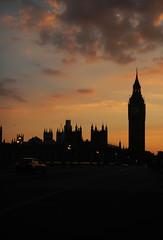 Big Ben (WaterCutter) Tags: uk sunset red orange london clouds big tramonto ben united rosso londra arancione