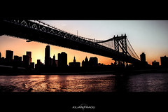 From the river side (sp4rty) Tags: voyage park new york trip bridge sunset usa newyork brooklyn centralpark manhattan central nypd queens manhattanbridge bigapple canon60d
