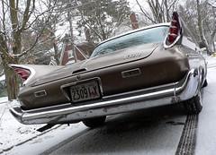 1960 DeSoto Fireflite (60Fire) Tags: winter snow ontario canada vintage classiccar antique guelph chrome 1960s mopar desoto fins 1960 wellingtoncounty gabardine fireflite worldcars
