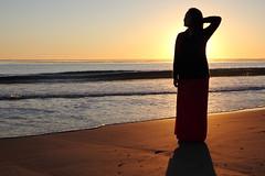 Sunset Silhouette (modestconfidence) Tags: ocean santa sunset sun beach silhouette canon eos rebel sand barbara vista setting isla ucsb 1755 550d t2i