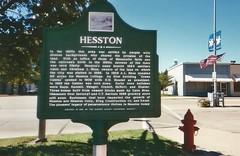 1. A mural in downtown Hesston, Hesston, 9 5 04 (leverich1991) Tags: haven 2004 hope exploring north mount harvey kansas patterson reno newton hutchinson sedgwick yoder halstead hesston burrton