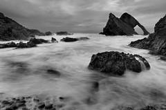 Bow Fiddle Rock (dawnlb83) Tags: longexposure blackandwhite seascape scotland rocks filter nd moray portnockie bowfiddlerock scottishcoastline 10stopfilter