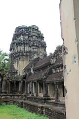 Main entrance to Angkor Wat with bullet holes- Angkor, Cambodia (Petitecornichon) Tags: temple cambodia vishnu khmer buddha buddhist buddhism angkorwat mount ii siemreap angkor hindu hinduism mythology angkorthom meru templemountain vara templecity mountmeru devas basreliefs 2013 suryavarman devatas suryavarmanii shaivism cityoftemples yasodharapura preahpisnulok vishnuloka galleriedtemple jagati