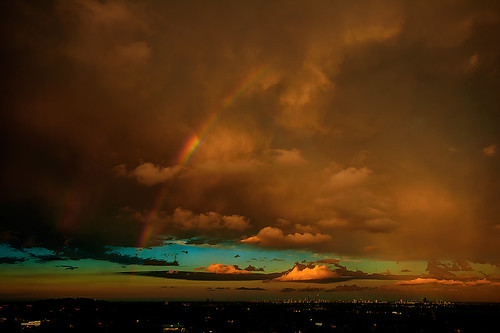 Double Rainbow Sunset