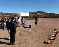 011 The Map Trays Are Arrayed (saschmitz_earthlink_net) Tags: california start map banner tray orienteering aguadulce vasquezrocks losangelescounty 2013 laoc losangelesorienteeringclub