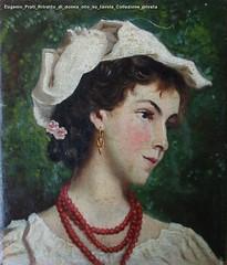 Eugenio Prati Ritratto di donna olio su tavola Collezione privata