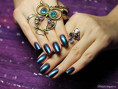 Dance Legend Sulley (So Laque!) Tags: blue green swatch hands polish rings nails jewlery nailpolish chameleon nailart laquer naildesign duochrome manucure multichrome dancelegend
