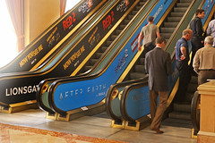 Entertainment, Lions Gate and After Earth for CinemaCon at Caesars Palace, Escalator Graphics