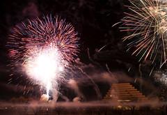 Finalle (dcnelson1898) Tags: california nightphotography night towerbridge fireworks celebration newyears sacramento sacramentoriver newyearseve2014