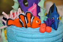 Finding Nemo & Dory Cake Toppers (rikkitikitavi) Tags: cake coral seashells dessert shark nemo handmade chocolate sealife disney cupcake vanilla squirt reef dory findingnemo milkchocolate fondant buttercream frenchvanilla brucetheshark handsculpted cakeball cakepop