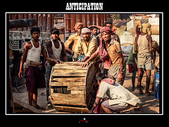 Anticipation (apertureshouptikbasuphotography) Tags: travel people india workers candid places cables cart tradition kolkata labourers