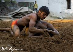 Kushti (Blinkofanaye) Tags: india wrestling traditional loincloth haryana akhara kushti 2013 pehelwan pehlwan fardiabad mallavidya