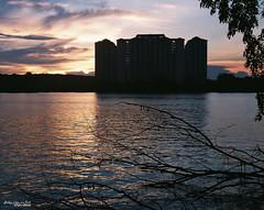 ::f.r.a.m.e:: (Zawawi Isa) Tags: sunset film silhouette nikon superia lakeside malaysia lakeview selangor filem nikonf75 lagunabiru