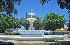 Downtown Bridgetown -  Heroes Square (Dolphin Fountain) (dlberek) Tags: barbados caribbean heroes monuments bridgetown citycenter memorials heroessquare dolphinfountain shellfountain publicwater publicwoks