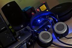Headphone Heaven (chris_swatton) Tags: two music canon eos time little mark tube creative ps dot valve sound headphones mk2 5d 500 amplifier audio hifi grado bose logitech blaster thx mkii audiophile xfi i ps500