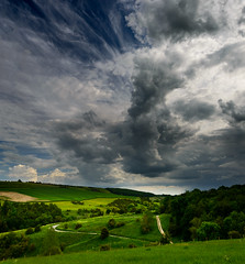 Rainstorm brewing over Millington Pastures (Mister Electron) Tags: sky storm clouds landscape day skies yorkshire stormy rainclouds bigskies pocklington eastyorkshire millington wolds cloudformations millingtonpastures nikond800 yorksihrewolds