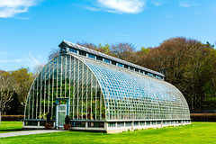 Greenhouse (WDLandry) Tags: park travel blue ireland sky house glass architecture clouds reflections nikon flickr perspective william kerry greenhouse national landry kilarney muchross d7100 12024mm wdlandry