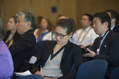 Participant taking note during the Side Event